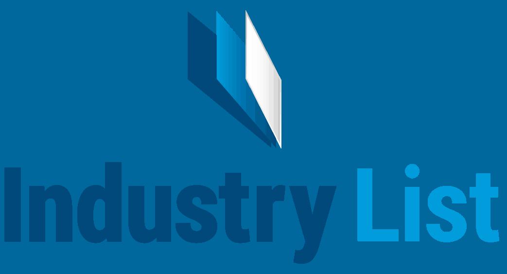 Logo Industry List mit Fächer Symbol über Schriftzug